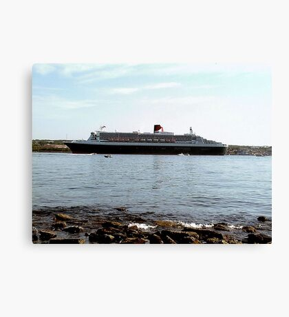 Queen Mary 2 arriving at Halifax Canvas Print