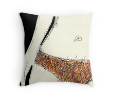 Scary Hairy Knickers Throw Pillow