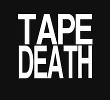 TAPE DEATH - White Text Minimal Unisex T-Shirt
