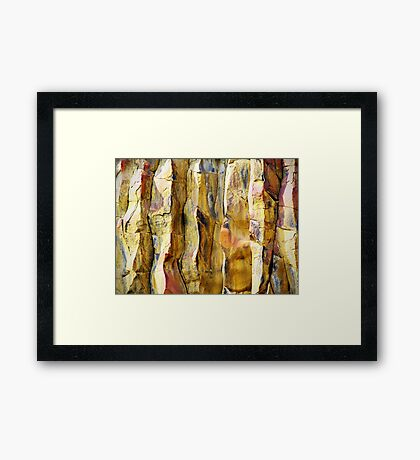 Stone Abstract Framed Print