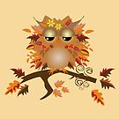 Cute Autumn Owl by walstraasart