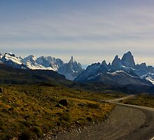 Road to the Mountains - El Chalten, Argentina by Phil McComiskey