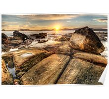 Umina Sunrise Sunrays Poster