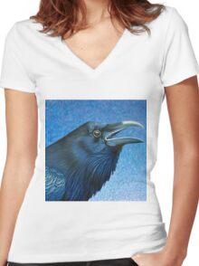 A Ravens Prayer Women's Fitted V-Neck T-Shirt