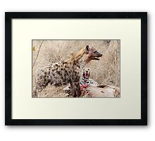 Don't Just Stand There Grinning - Leave Now ! Framed Print