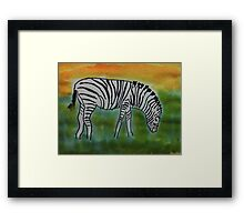 The Zebra, for the Africa Series  ( revised version), watercolor Framed Print