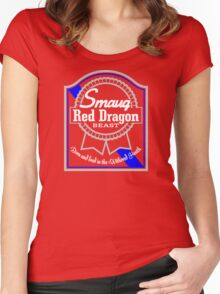 Smaug Red Dragon Women's Fitted Scoop T-Shirt