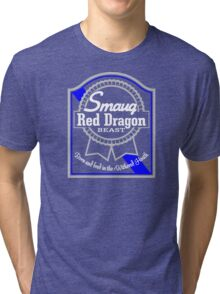 Smaug Red Dragon Tri-blend T-Shirt