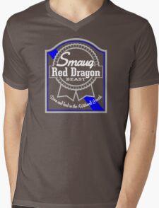 Smaug Red Dragon Mens V-Neck T-Shirt