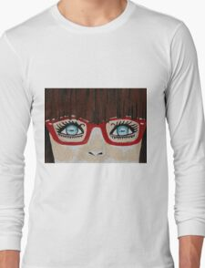 The Girl With The Red Glasses Long Sleeve T-Shirt