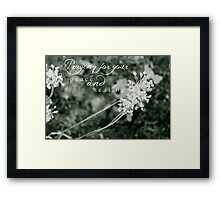 Praying For Your Peace and Healing Framed Print