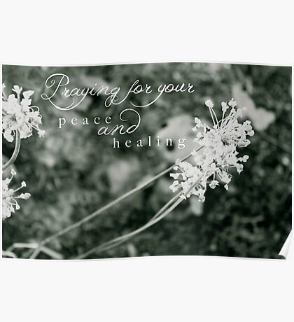 Praying For Your Peace and Healing Poster