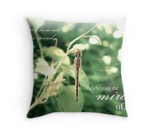 Celebrating the Miracle of His Life - Birthday or Special Date Throw Pillow