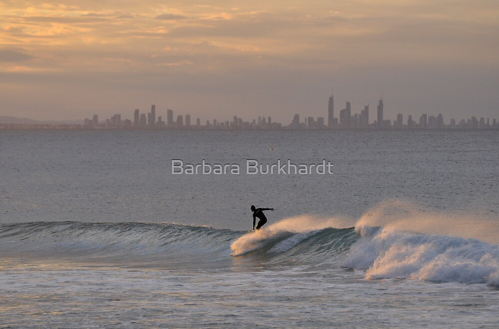 Solo Surfer - Gold Coast,Qld Australia by Barbara Burkhardt