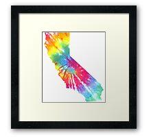 California Block Tie Dye  Framed Print