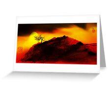 Mountain Zen Ink Greeting Card