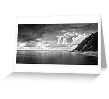 Shorncliffe Cliffs @ Dawn (Black & White) Greeting Card