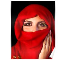 Eyes behind the red scarf Poster