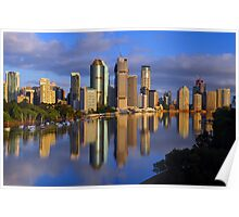 Brisbane River and City at dawn. Queensland, Australia. (10) Poster