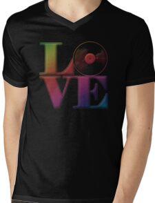 Vinyl Love Mens V-Neck T-Shirt