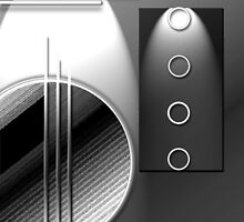 #59 B&W Abstract Digital Art; circles & lines. by ronsphotos