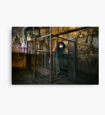 The Gimp Does a Runner Canvas Print