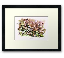 'Elves with Deer' Framed Print