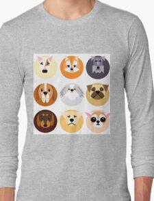 Chubby puppy spot pattern Long Sleeve T-Shirt