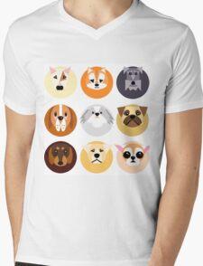 Chubby puppy spot pattern Mens V-Neck T-Shirt