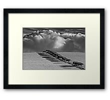 Clouds Approaching - Hornby, Lancashire Framed Print