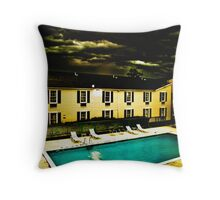 Paradise Motel Throw Pillow