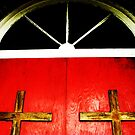 Peace to all who enter here by Lynne Prestebak