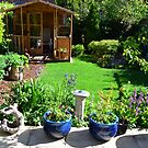 View of our garden in Sussex, England by Steve