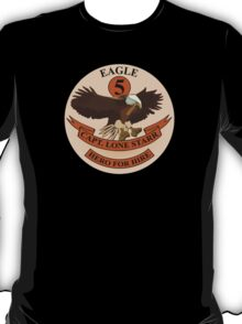 "Spaceballs Eagle 5 Logo ""Hero For Hire""  T-Shirt"