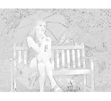 Sitting On The Garden Bench Photographic Print