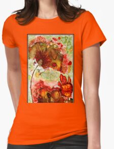 Blooming Impressions.. Womens Fitted T-Shirt