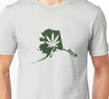 Alaska State Pot Leaf Unisex T-Shirt