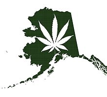 Alaska State Pot Leaf by surgedesigns