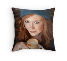Coffee in Elwood Throw Pillow