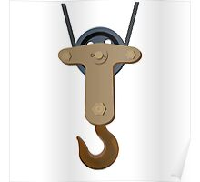 Crane hook isolated on white Poster