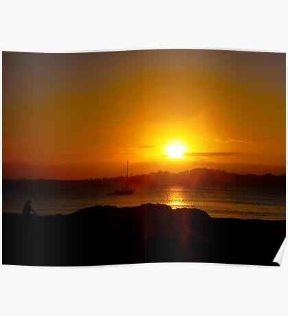 Sunset at Barlings Beach Poster
