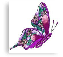Iris Butterfly Illustration-2 Canvas Print