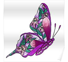 Iris Butterfly Illustration-2 Poster