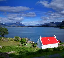 Red Roofed Cottage  by John Ellis