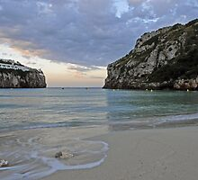 Time and tide wait for no man - dawn at Cala En Porter beach, Menorca by westie71