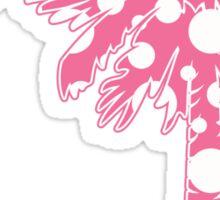 Pink Polka Dots Palmetto Moon Sticker
