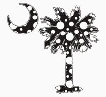 Black Polka Dots Palmetto Moon by PalmettoTrading