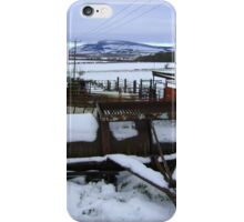 Farmyard metal - Christmas day snowscape iPhone Case/Skin