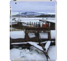 Farmyard metal - Christmas day snowscape iPad Case/Skin
