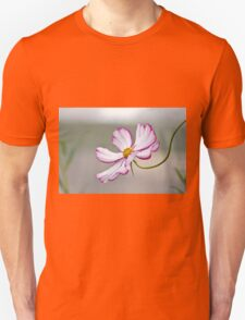 White and purple cosmos flower Unisex T-Shirt